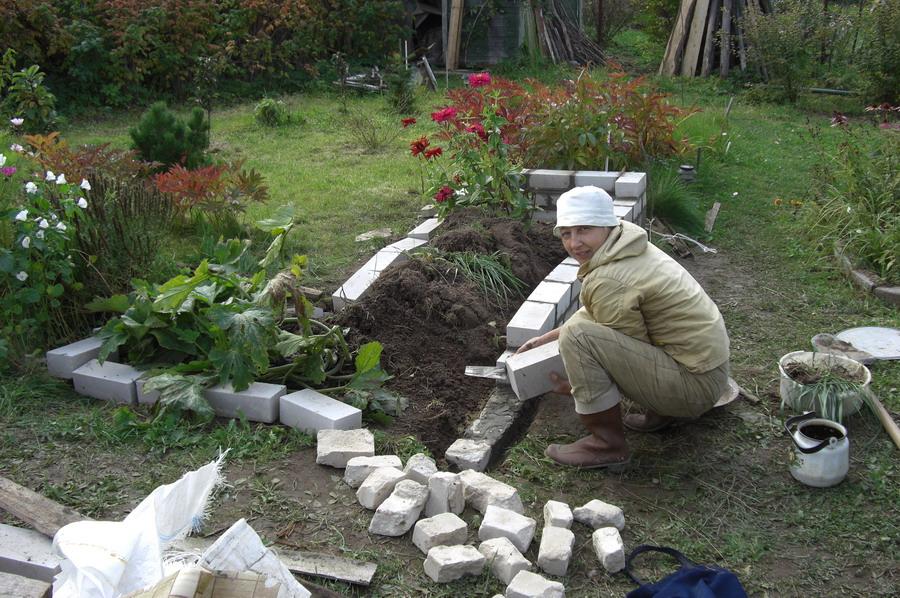 Клумбы своими руками на огороде